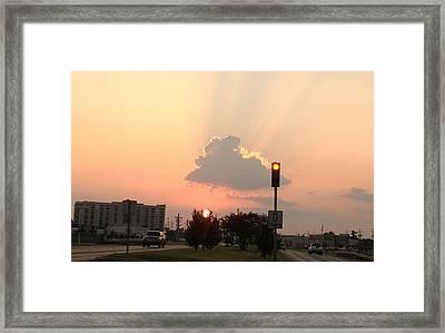 Sunset In The City 3 Framed Print