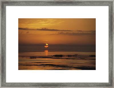 Sunset Over Lake Okeechobee Framed Print by Medford Taylor