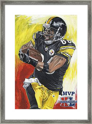 Super Bowl Mvp Hines Ward Framed Print by David Courson