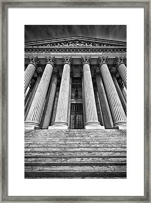 Supreme Court Building 10 Framed Print by Val Black Russian Tourchin