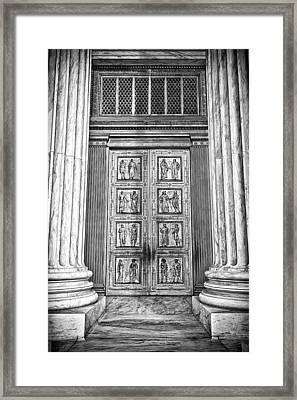 Supreme Court Building 12 Framed Print by Val Black Russian Tourchin