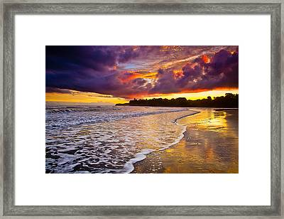 Surreal Sunset Framed Print by Iris Greenwell