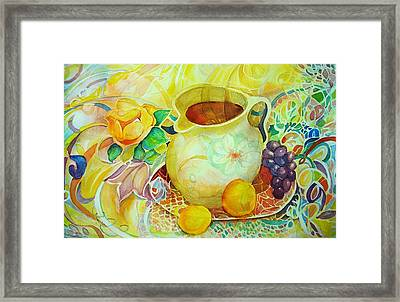 Framed Print featuring the painting Sweet Tea by Anne Dentler