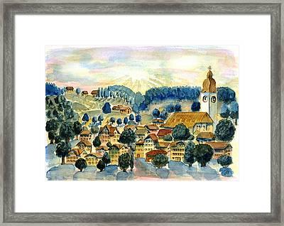 Swiss Village Framed Print
