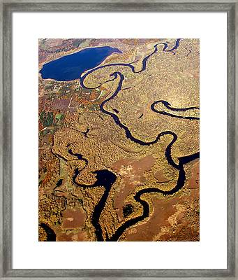 Framed Print featuring the photograph T-002 Twisted Wolf River by Bill Lang