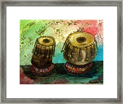 Tabla X 2 Framed Print by Amanda Dinan
