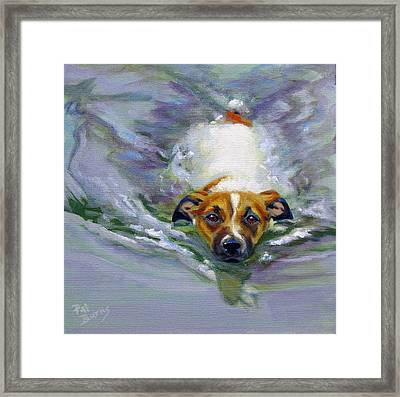 Framed Print featuring the painting Tadpole by Pat Burns