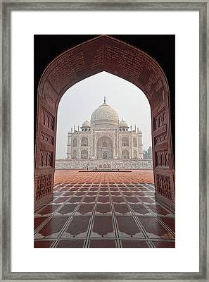 Taj Mahal - Color Framed Print