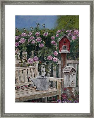 Take A Seat Framed Print by Mary-Lee Sanders