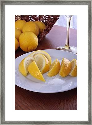 Taste Of Lemon Framed Print by Christin Burrows
