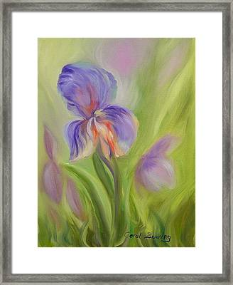 Framed Print featuring the painting Tennessee Iris Two by Carol Berning