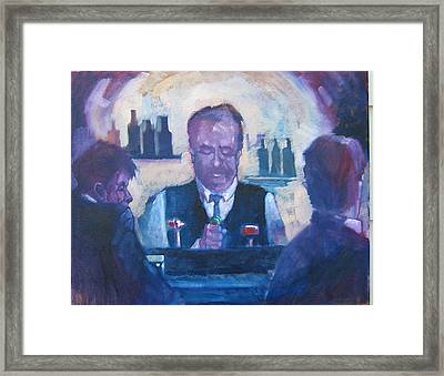 The Bartender Framed Print by Kevin McKrell