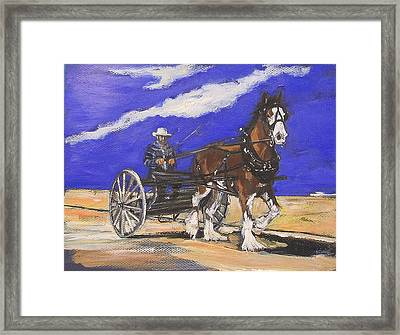 Framed Print featuring the painting The Belgian by Debora Cardaci