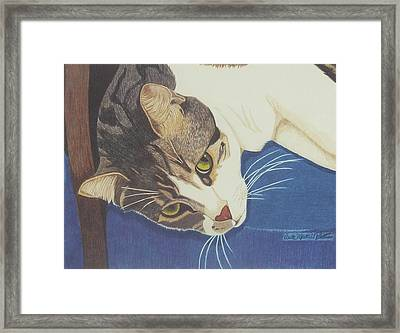 The Blue Chair Framed Print