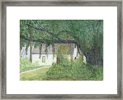 The Cottage-st. Simons Is. Ga Framed Print by Diane Frick