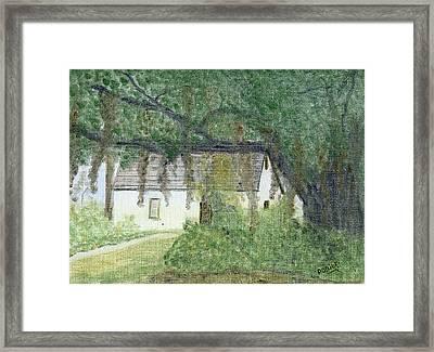 The Cottage-st. Simons Is. Ga Framed Print