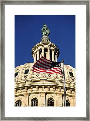 The Dome Of The United States Capitol Framed Print by Rex A. Stucky