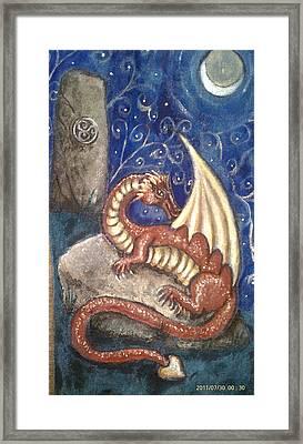 The Dragon Stone Framed Print