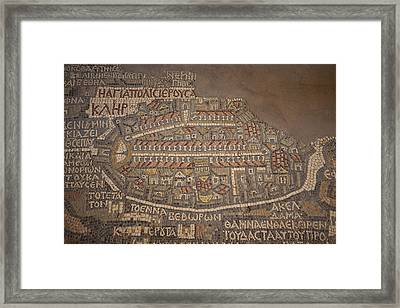 The Earliest Known Map Of The City Framed Print by Taylor S. Kennedy