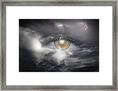 The Eye Of The Storm See's All Framed Print by My Minds  Photographer