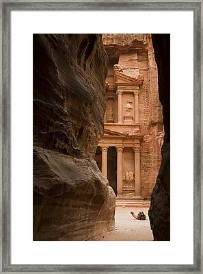 The Famous Treasury With A Camel Framed Print by Taylor S. Kennedy