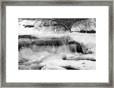 The Frigid Niagara Framed Print by Timothy McIntyre
