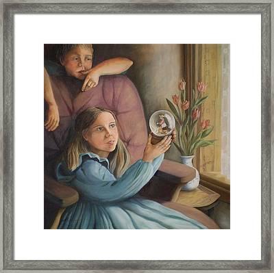The Gift - Le Cadeau Framed Print