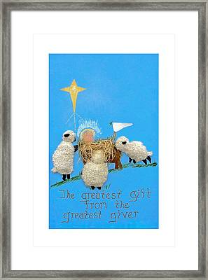 The Greatest Gift Framed Print by Sally Weigand