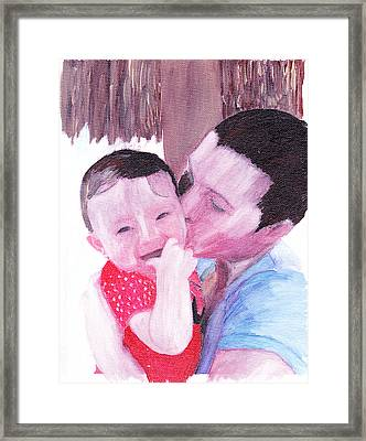 The Kiss Framed Print by David Poyant