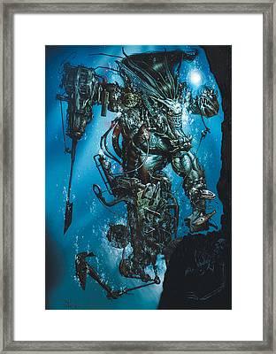 The Kraken Framed Print by Paul Davidson