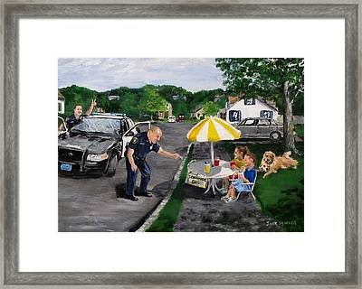 The Lemonade Stand Framed Print by Jack Skinner