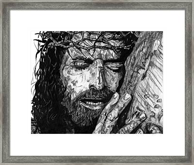 The Lion Framed Print by Bobby Shaw