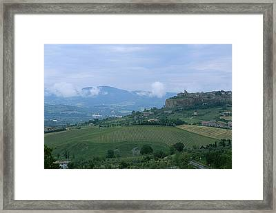 The Medieval Hill Town Of Orvieto Rises Framed Print by Taylor S. Kennedy