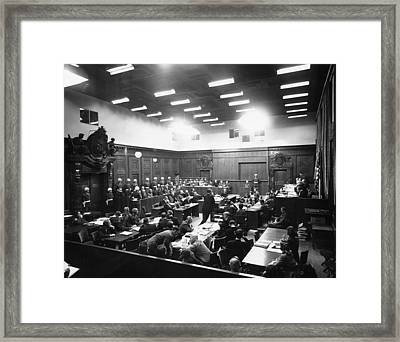 The Nuremberg Trials. The Palace Framed Print