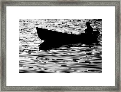 Framed Print featuring the photograph The Old Fishermen by Pedro Cardona
