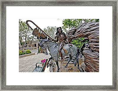 The Proud Indian  Warrior Framed Print