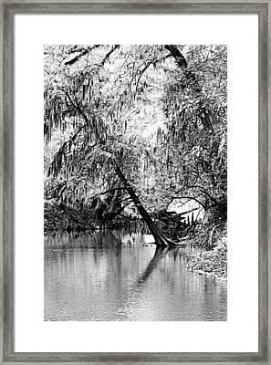 The River Filtered Framed Print