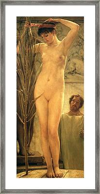 The Sculptor's Model Framed Print by Sir Lawrence Alma-Tadema