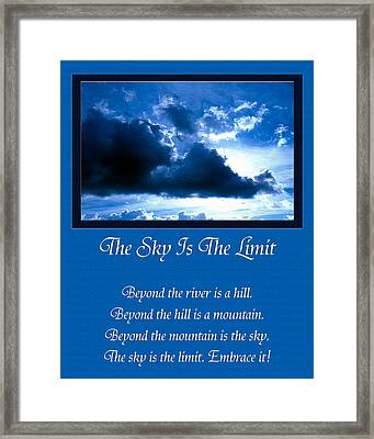 The Sky Is The Limit Framed Print by Andee Design