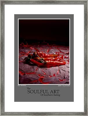 The Soufull Art Of Southern Eating-red Peppers Framed Print