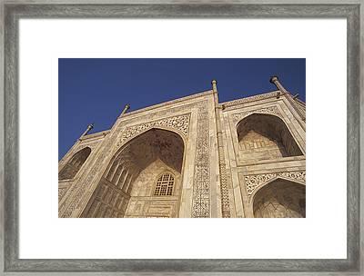 The Taj Mahals Pristine White Marble Framed Print by Jason Edwards
