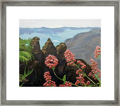 The Three Sisters Framed Print by Tatjana Popovska