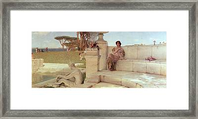 The Voice Of Spring Framed Print by Sir Lawrence Alma-Tadema