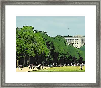 The Washington Dc Mall Framed Print by Russ Harris