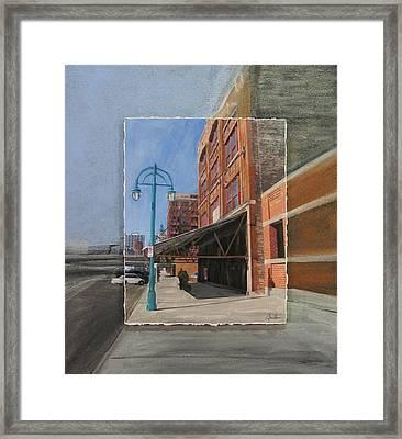 Third Ward - Market Street Framed Print by Anita Burgermeister