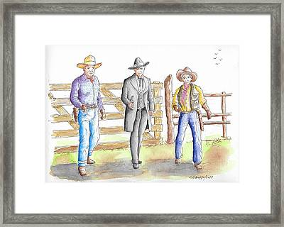 Three Heroes From The West Framed Print