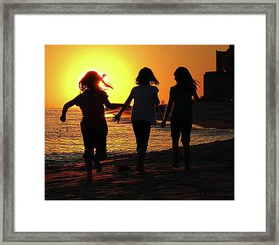 Framed Print featuring the photograph Three Is Company by Barbara MacPhail