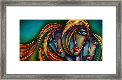 Three Framed Print by Michael Lang