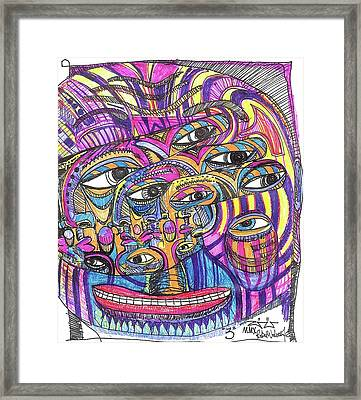 Three Framed Print by Robert Wolverton Jr