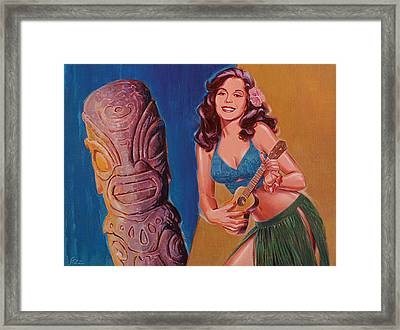 Tiki Tarts- I Love Nobody But Uke Baby Framed Print by Shawn Shea